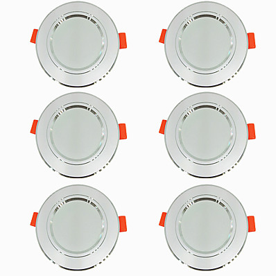 cheap Indoor Lighting-6pcs 5 W 360 lm 10 LED Beads Easy Install Recessed LED Downlights Warm White Cold White 220-240 V Ceiling Home / Office Living Room / Dining Room