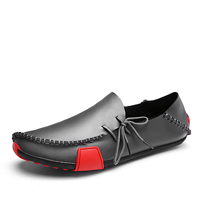 b5b5ff7db1a ADOR® Men s Moccasin Leather   Microfiber Spring   Summer Casual   British  Loafers   Slip-Ons Non-slipping Gray   Brown   Black and White