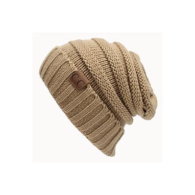 cheap Women's Jewelry-Women's Beanie / Slouchy Street Dailywear Casual Wine Blue Pure Color Hat / Work / Orange / Gray / Fall / Winter