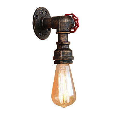 cheap Indoor Lighting-Mini Style Pipe Simple Retro Vintage Wall Lamps Wall Sconces Living Room Hallway Metal Wall Light 110-120V 220-240V 60 W