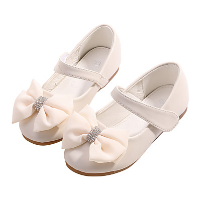 d830453d2169 Girls' Shoes Microfiber Spring / Fall Comfort / Flower Girl Shoes Flats  Bowknot / Sparkling Glitter for Kids / Toddler Light Pink / Ivory / Wedding  / Party ...