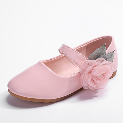 877120f1b Girls  Shoes PU(Polyurethane) Spring   Fall Comfort   Flower Girl Shoes  Flats Flower for Kids   Toddler White   Light Pink   Party   Evening