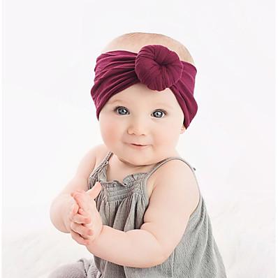 abordables Accessoires Enfants-Nourrisson Unisexe Basique / Doux Couleur Pleine Noeud Rayonne Accessoires Cheveux Vin / Bleu clair / Lavande Taille unique