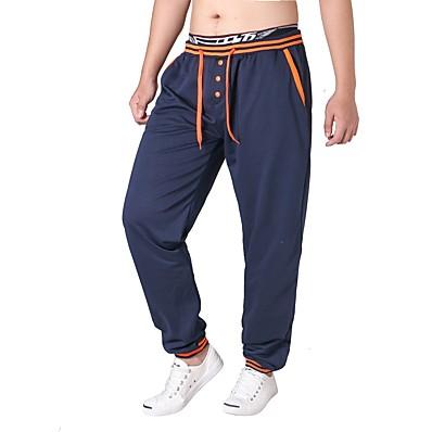 cheap Men's Bottoms-Men's Basic Chinos / Sweatpants Pants - Solid Colored Cotton Black Gray Royal Blue XL XXL XXXL