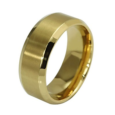 cheap ACCESSORIES-Ring Retro Rose Gold Black Gold Steel Stainless Faith Simple Hip-Hop engineering 1pc 6 7 8 9 10 / Men's / Promise Ring