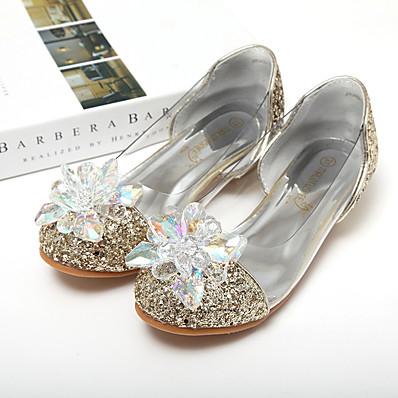 0488b037ee6 Girls  Shoes PU(Polyurethane) Spring   Summer Flower Girl Shoes   Tiny Heels  for Teens Sandals Sequin   Sparkling Glitter for Kids Silver   Blue   Pink  ...