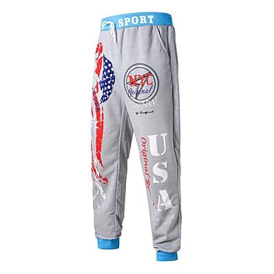 cheap Men's Bottoms-Men's Basic Chinos / Sweatpants Pants - Pattern Cotton Gray XL XXL XXXL