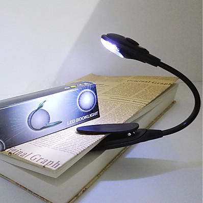 cheap Lamps & Lamp Shades-portable mini LED reading light book clip light protable bright Flexible Gooseneck for tablet computer 1 pc