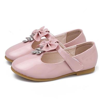 15cf3ea71fbfc Fille Chaussures Polyuréthane Printemps Chaussures de Demoiselle d'Honneur  Fille Ballerines Noeud pour Enfants Blanc / Noir / Rose