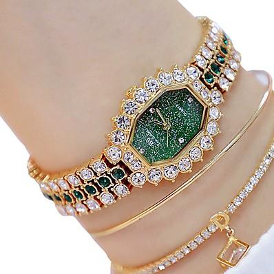 cheap Women's Watches-Women's Bracelet Watch Quartz Watches Analog Quartz Glitter Sparkle Luminous Imitation Diamond / Two Years