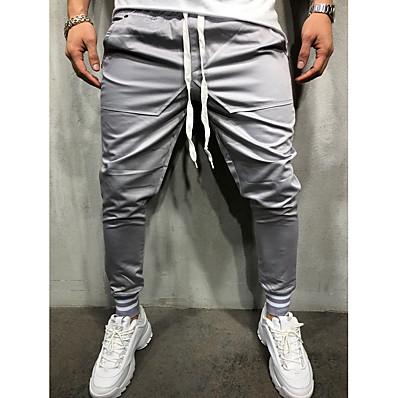 cheap Men's Bottoms-Men's Basic Sweatpants Pants - Solid Colored Navy Blue Gray Army Green XL XXL XXXL