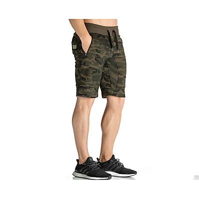cheap Men's Bottoms-Men's Basic / Military Shorts Pants - Print Black Rainbow Khaki L XL XXL