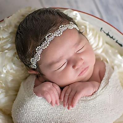 preiswerte Kindermode Accessoires-Baby Unisex Grundlegend / Süß Solide Blumig Acryl Haarzubehör Beige Einheitsgröße