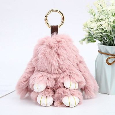 cheap Women's Jewelry-Keychain Rabbit Animals Casual Fashion Ring Jewelry Light Pink / Royal Blue / Lavender For Gift School