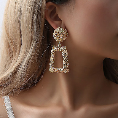 cheap Women's Jewelry-Women's Earrings Classic Earrings Jewelry Rose Gold / Black / Yellow For Street Bar 1 Pair
