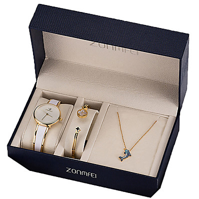 cheap Women's Watches-Women's Quartz Watches Analog Quartz Gift Set Fashion Chronograph Cute Casual Watch / Two Years / Stainless Steel / Japanese