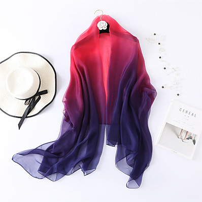 cheap ACCESSORIES1-Sleeveless Shawls / Scarves Chiffon / Tulle Wedding / Party / Evening Women's Wrap / Women's Scarves With Color Block