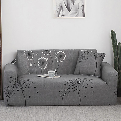 cheap Home Textiles-Stretch Sofa Cover Slipcovers Dandelion Pattern Armchair Loveseat Replacement Soft Furniture Protector Fit forArmchair/Loveseat/Three Seater/Four Seater/L shaped sofa