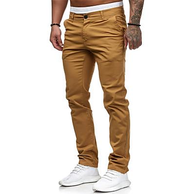 cheap Men's Bottoms-Men's Basic EU / US Size Jogger / Chinos Pants - Solid Colored Classic Cotton Black White Blushing Pink M L XL