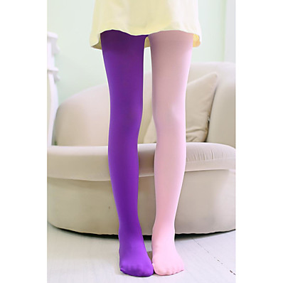cheap Kids' Accessories-1 Pair Kids Girls' Sweet Solid Colored Stylish Polyester Socks & Stockings Blue / Purple / Yellow One-Size