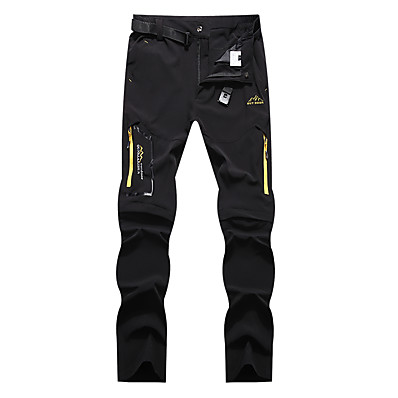 cheap Camping, Hiking & Backpacking-Men's Hiking Pants Trousers Convertible Pants / Zip Off Pants Solid Color Summer Outdoor Waterproof Breathable Quick Dry Stretchy Elastane Pants / Trousers Bottoms Dark Grey Black Khaki Hunting