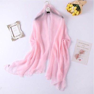 cheap ACCESSORIES-Sleeveless Shawls / Scarves Imitation Silk Wedding / Party / Evening Women's Wrap / Women's Scarves With Solid