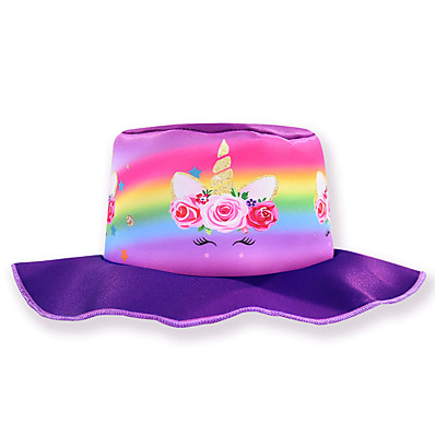 cheap Kids' Accessories-Kids Girls' Sweet Cartoon Spandex Hats & Caps Purple / Fuchsia One-Size