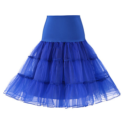 cheap Wedding Accessories-Wedding / Wedding Party Slips Polyester / Tulle Knee-Length Solid Color / Tutus & Skirts with