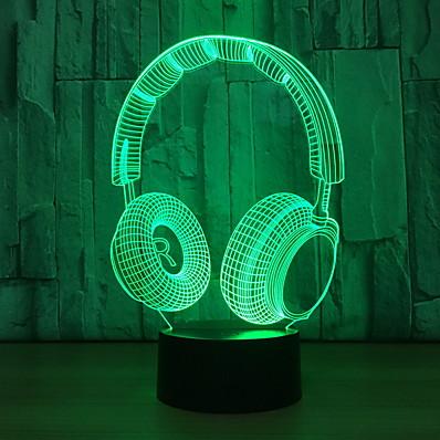 abordables Déco & Lumière De Nuit-Veilleuse 3D Créatif USB 1pc