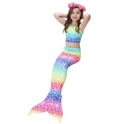 cheap Girls' Clothing-Kids Girls' Cute Rainbow Swimwear Rainbow