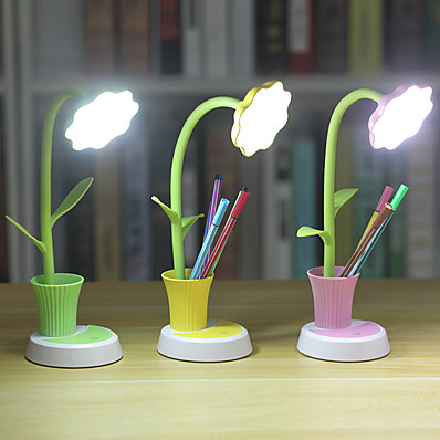 cheap Lamps & Lamp Shades-Desk Lamp / Reading Light Eye Protection / Ambient Lamps Simple / Modern Contemporary USB Powered For Bedroom / Office <5V Yellow / Blushing Pink / Green