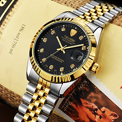 cheap Men's Watches-Tevise Men's Dress Watch Mechanical Watch Analog Automatic self-winding Formal Style Stylish Luxury Water Resistant / Waterproof Shock Resistant / Stainless Steel