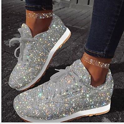 cheap Sneakers-Women's Sneakers Flat Heel Round Toe PU Summer White / Fuchsia / Blue