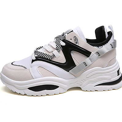 cheap Sneakers-Unisex Sneakers Plus Size Flat Heel Round Toe Daily Mesh Summer White / Black / Rainbow