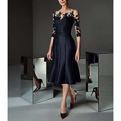 cheap Dresses-Women's Asymmetrical Daily Prom Lace Up Elegant Sleeveless A Line Sheath Dress - Floral Lace Ruffle Off Shoulder Lace Black M L XL XXL / Plus Size