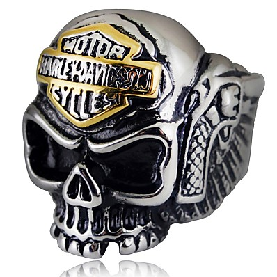 cheap Men's Jewelry-Ring Vintage Style Silver Alloy Skull Gothic Ethnic Fashion 1pc 8 9 10 11 / Men's