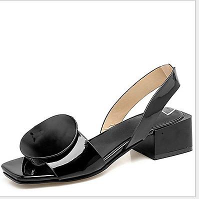 abordables Sandales pour Femme-Femme Sandales Sandales plates Talon Plat Bout rond Doux Minimalisme Quotidien Polyuréthane Couleur Pleine Eté Blanche Noir