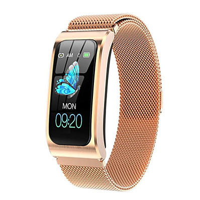 cheap Jewelry & Watches-AK12 Women's Smartwatch Smart Bracelet Smartwatch Bluetooth Water Resistant / Waterproof Heart Rate Monitor Blood Pressure Measurement Bluetooth Smart ECG+PPG Stopwatch Heart Rate Monitor Sedentary