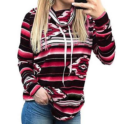 cheap Hoodies & Sweatshirts-Women's Basic Hoodie - Striped Black S