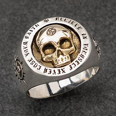 preiswerte Schmuck für Herren-Ring Vintage-Stil Silber Aleación Sonne Totenkopf Ethnisch Modisch Retro 1pc 8 9 1 11 / Herren