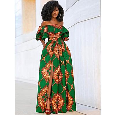 cheap Two Piece Set-Women's Set - Floral Dress