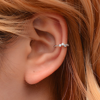 cheap Women's Jewelry-Women's Ear Cuff Crossover Happy Earrings Jewelry Gold / Silver For Club