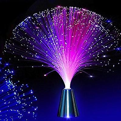 abordables Déco & Lumière De Nuit-LED fibre optique veilleuse lampe couleur changeante décoration lumière cadeau de noël 2w pour mariage fête de noël maison chambre décoration sans batterie