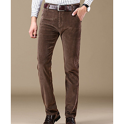 cheap Men's Bottoms-Men's Basic Chinos Pants - Solid Colored Black Wine Royal Blue US32 / UK32 / EU40 US34 / UK34 / EU42 US38 / UK38 / EU46