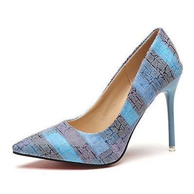 cheap SHOES & ACC-Women's Heels Stiletto Heel Pointed Toe PU Summer Orange / Blue