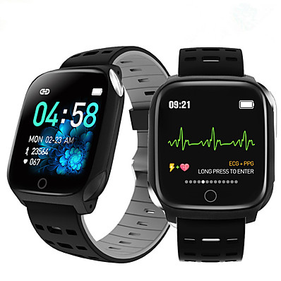 cheap Jewelry & Watches-F16 smart bracelet ECG band heart rate blood pressure blood oxygen sleep monitoring fitness tracker waterproof Smart Watch