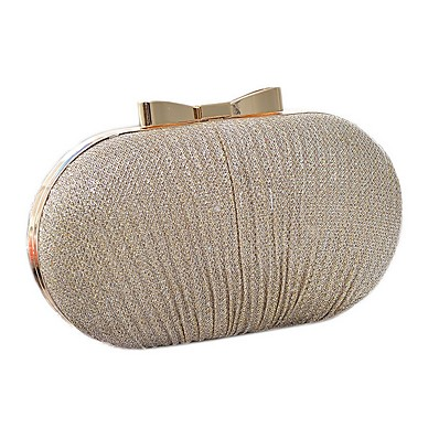 cheap Bags-Women's Bags Polyester Clutch for Party / Daily Black / Gold / Silver / Wedding Bags