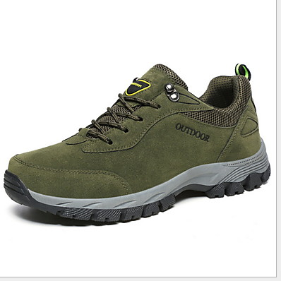 cheap Men's Shoes-Men's Comfort Shoes PU Fall & Winter Sporty Athletic Shoes Hiking Shoes Non-slipping Brown / Green / Gray