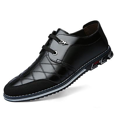 cheap Men's Shoes-Men's Comfort Shoes Cowhide Fall & Winter Oxfords Black / Brown / Blue