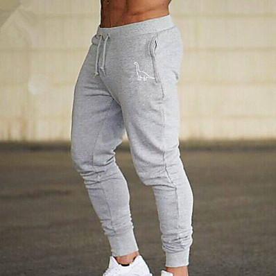 cheap Men's Bottoms-Men's Sporty Chinos Pants - Animal Black Red Green US34 / UK34 / EU42 US36 / UK36 / EU44 US38 / UK38 / EU46